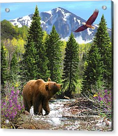 Acrylic Print featuring the painting Bear Necessities Ill by Doug Kreuger