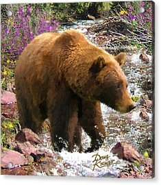 Acrylic Print featuring the painting Bear Necessities II by Doug Kreuger