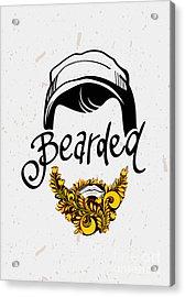 Beard And Mustache. Traditional Russian Acrylic Print