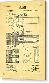 Beard Railroad Coupler Patent Art 1897 Acrylic Print