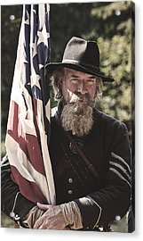Bearing Old Glory D0256 Acrylic Print by Wes and Dotty Weber