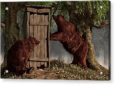 Bears Around The Outhouse Acrylic Print