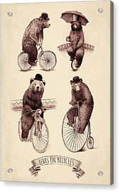 Bears On Bicycles Acrylic Print