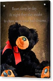 Bears Sleep By Day Acrylic Print by Darren Fisher