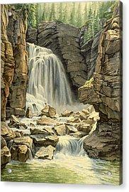 Beartooth Falls Acrylic Print by Paul Krapf