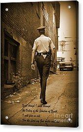 Beat Cop Acrylic Print by John Malone