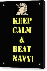 Beat Navy Acrylic Print