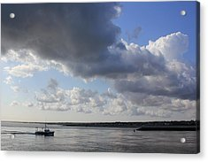 Beating The Storm Acrylic Print by Amazing Jules