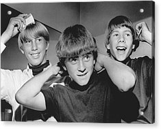 Beatle Haircuts Get Reprieve Acrylic Print by Underwood Archives