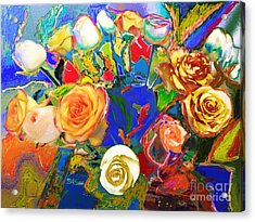 Beatles Flowers Abstract Acrylic Print