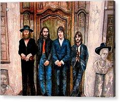Beatles Hey Jude Acrylic Print by Leland Castro
