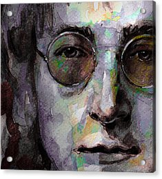 Beatles - John Lennon Acrylic Print by Laur Iduc