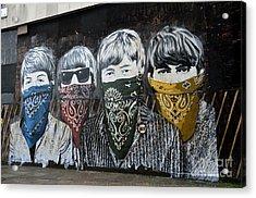 Beatles Street Mural Acrylic Print