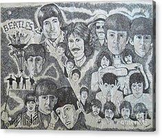 Beatles Tribute Acrylic Print by Susan Plenzick