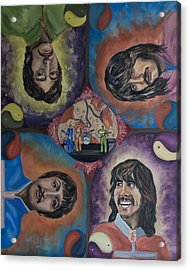 Beatles' Universe Acrylic Print by Linda Riesenberg Fisler