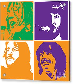 Beatles Vinil Cover Colors Project No.02 Acrylic Print by Caio Caldas