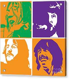 Beatles Vinil Cover Colors Project No.02 Acrylic Print