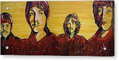 Beatles Widescreen Acrylic Print by Linda Kassabian