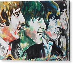 The Beatles 02 Acrylic Print by Chrisann Ellis