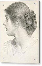 Beatrice Stuart Acrylic Print by Sir Frank Dicksee