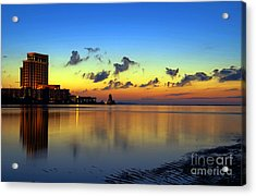Acrylic Print featuring the photograph Beau Rivage Sunrise by Maddalena McDonald