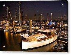 Beaufort Sc Night Harbor Acrylic Print