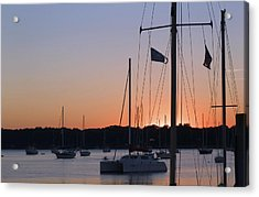 Acrylic Print featuring the photograph Beaufort Sc Sunset by Bob Pardue