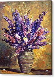 Beaujolais Bouquet Acrylic Print by David Lloyd Glover