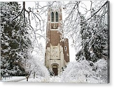 Beaumont Tower Ice Storm  Acrylic Print