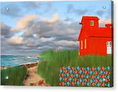 Beautification Of A Lighthouse Acrylic Print by Bruce Nutting