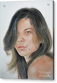 Beautiful And Sexy Actress Jeananne Goossen IIi  Acrylic Print by Jim Fitzpatrick