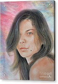 Beautiful And Sexy Actress Jeananne Goossen Iv Altered Version Acrylic Print by Jim Fitzpatrick