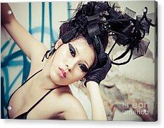 Beautiful Asian Woman Acrylic Print by Fototrav Print