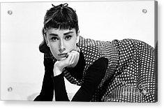 Beautiful Audrey Hepburn Acrylic Print by Marvin Blaine