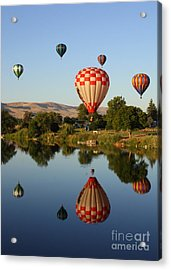 Beautiful Balloon Day Acrylic Print by Carol Groenen