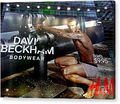 Beautiful Beckham Acrylic Print
