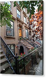 Beautiful Brownstone Home Acrylic Print by Steven Spak