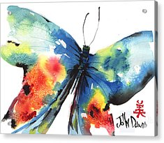 Beautiful Butterfly Acrylic Print by John Dunn