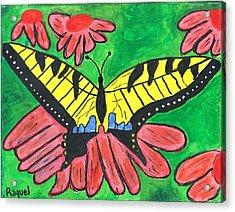 Tiger Swallowtail Butterfly Acrylic Print by Raqul Chaupiz