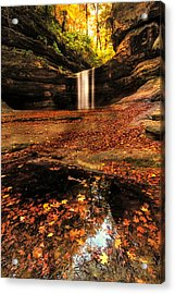 Beautiful Canyon And Waterfall Acrylic Print by Sushmita Sadhukhan