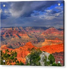 Acrylic Print featuring the painting Beautiful Canyon by Bruce Nutting