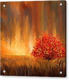 Beautiful Change- Autumn Impressionist Acrylic Print by Lourry Legarde