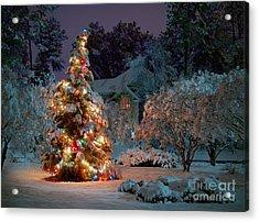 Beautiful Christmas Tree Lights Acrylic Print by Boon Mee