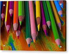 Beautiful Colored Pencils Acrylic Print
