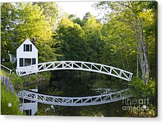 Beautiful Curved Bridge In Somesville Acrylic Print by Bill Bachmann