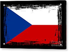 Beautiful Czech Republic Flag Acrylic Print