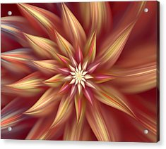Beautiful Dahlia Abstract Acrylic Print by Georgiana Romanovna