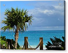 Acrylic Print featuring the photograph Beautiful Day At The Beach by Judy Wolinsky
