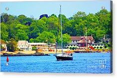 Beautiful Day For Sailing Acrylic Print by Judy Palkimas