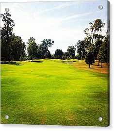 Beautiful Day #golf #fairway#iphone5 Acrylic Print